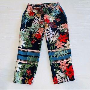 ZARA Tropical Print Trouser Pants